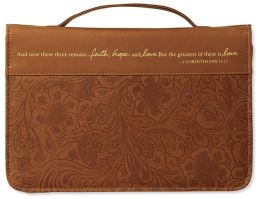 Brown Faith, Hope, and Love Bible Cover