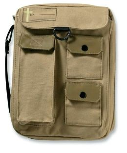 Single Compartment Cargo Khaki LG Bible Cover