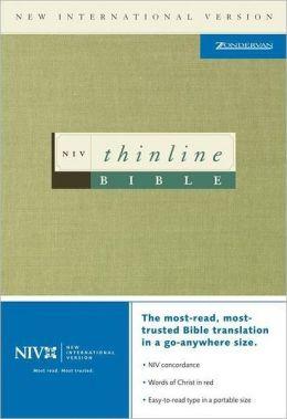 NIV Thinline Bible: New International Version, black bonded leather