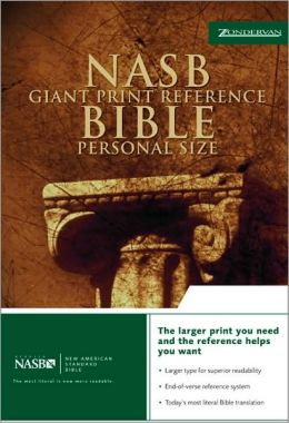 NASB Giant Print Reference Bible Personal Size