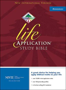 Life Application Study Bible: New International Version (NIV), burgundy bonded leather thumb-indexed