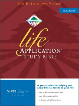 Life Application Study Bible: New International Version (NIV), black genuine leather, side-referenced, concordance, words of Christ in red