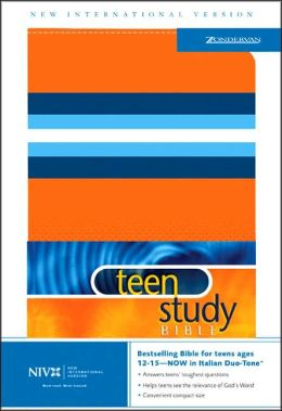 NIV Teen Study Bible, Orange