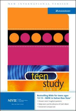 NIV Teen Study Bible, Orange and Pink