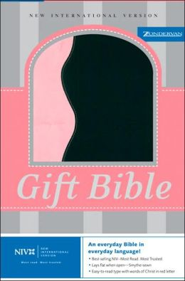 NIV Gift Bible: New International Version, light pink/black italian duo-tone
