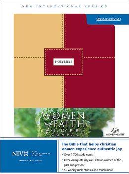 NIV Women of Faith Bible Study Bible, Red/Sand Italian Dou -Tone