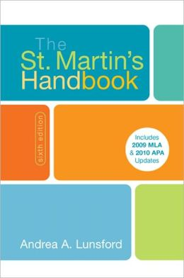 The St. Martin's Handbook with 2009-2010