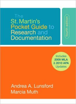 The St. Martin's Pocket Guide to Research and Documentation with 2009 MLA and 2010 APA Updates
