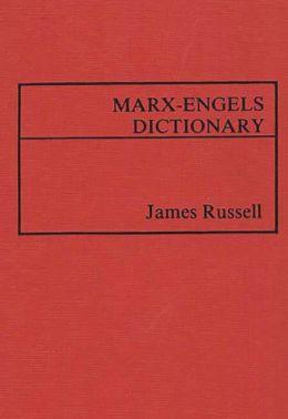 Marx-Engels Dictionary.