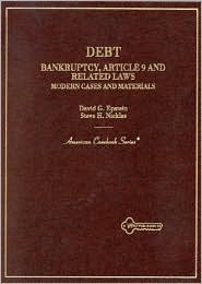 Debt:Bankruptcy, Article 9 and Related Laws