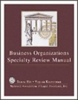 Business Organization Specialty Review Manual