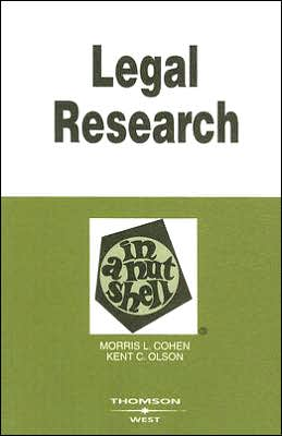 Legal Research in a Nutshell (In A Nutshell Series)