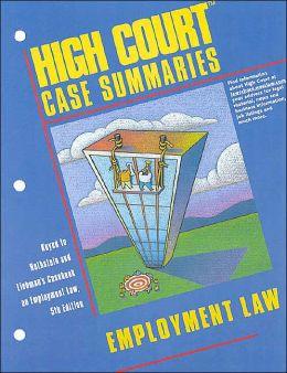 High Court Case Summaries on Employment Law