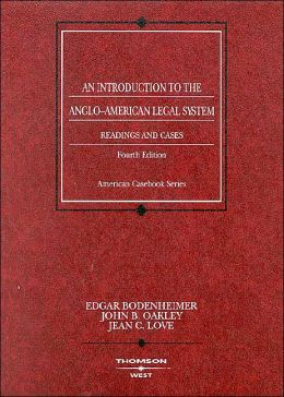 Readings and Cases on an Introduction to the Anglo-American Legal System
