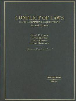 Conflict of Laws:Cases and Comments
