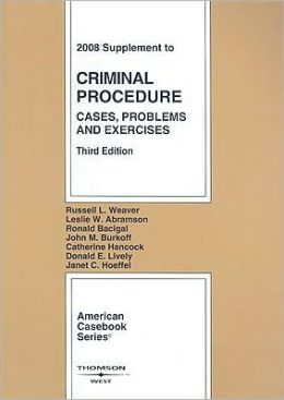 Procedure, Cases, Problems and Exercises, 2008 Supplement