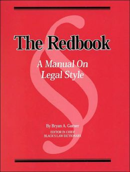 Redbook Manual of Legal Style
