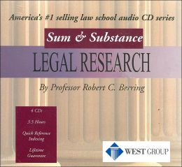 Sum and Substance Audio on Legal Research, 2001