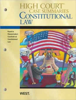 Constitutional Law, Keyed to Chemerinsky