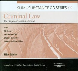 Dressler's Sum and Substance Audio on Criminal Law