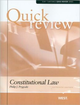 Constitutional Law Quick Review, 15th