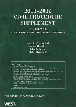 Civil Procedure Supplement:For Use with All Pleading and Procedure Casebooks