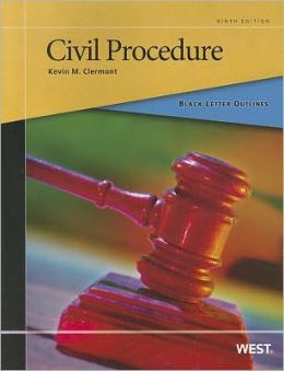 Black Letter Outline on Civil Procedure, 9th