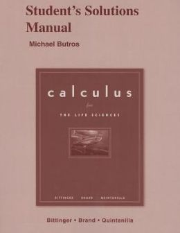 Calculus for Life Sciences: Student's Solutions Manual
