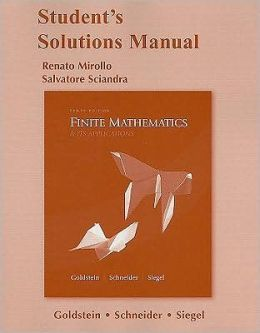 Student's Solutions Manual for Finite Mathematics & Its Applications
