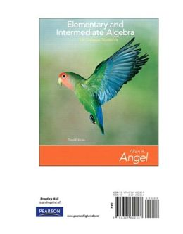 Elementary and Intermediate Algebra for College Students, Books a la Carte Edition
