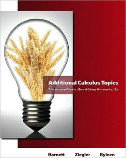 Additional Calculus Topics for Calculus for Business, Economics, Life Sciences & Social Sciences