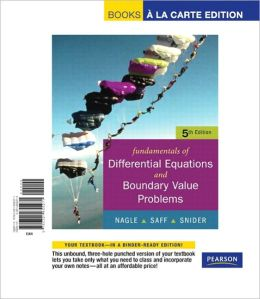 Fundamentals of Differential Equations with Boundary Value Problems with Ide CD, Books a la Carte Edition
