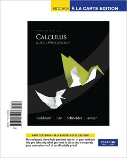 Calculus & Its Applications, Books a la Carte Edition