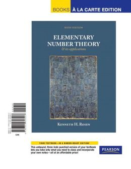 Elementary Number Theory, Books a la Carte Edition