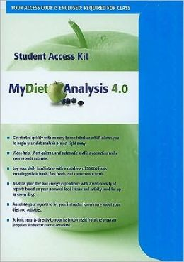 MyDietAnalysis 4.0 Student Access Kit