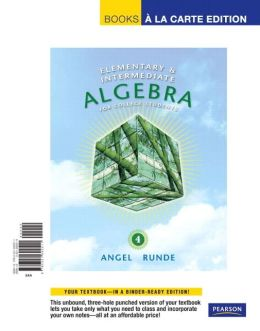 Elementary & Intermediate Algebra for College Students, Books a la Carte Edition