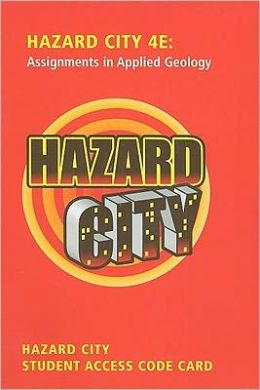 Student Access Code Card for Premium Website for Hazard City