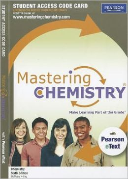 MasteringChemistry with Pearson eText Student Access Code Card for Chemistry
