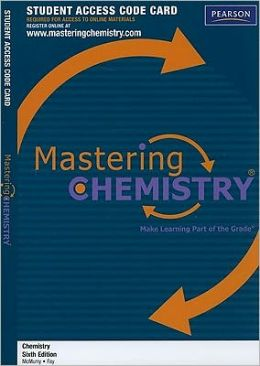 MasteringChemistry -- Standalone Access Card -- for Chemistry