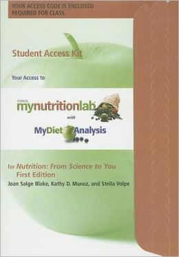 MyNutritionLab Student Access Code Card for Nutrition: From Science to You