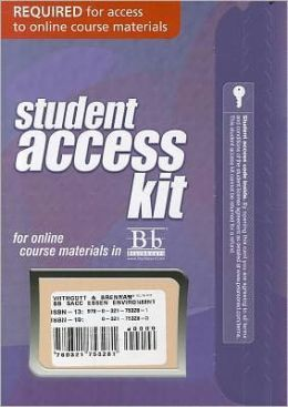 Blackboard -- Access Card -- for Essential Environment: The Science behind the Stories