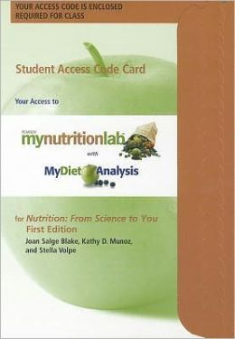 NEW MyNutritionLab plus MyDietAnalysis with Pearson eText -- Standalone Access Card -- for Nutrition: From Science to You