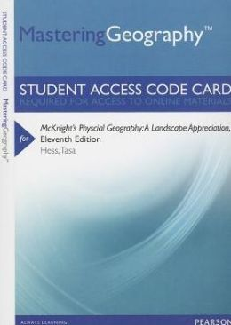 MasteringGeography -- Standalone Access Card -- for McKnight's Physical Geography: A Landscape Appreciation
