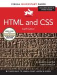 Book Cover Image. Title: HTML and CSS:  Visual QuickStart Guide, Author: Elizabeth Castro