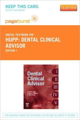 Dental Clinical Advisor - Pageburst Digital Book (Retail Access Card)