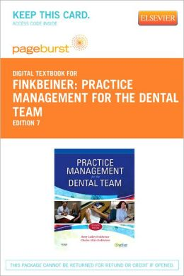 Practice Management for the Dental Team - Pageburst Digital Book (Retail Access Card)