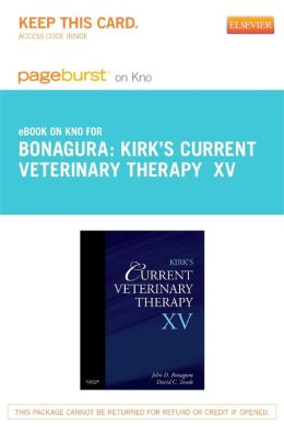 Kirk's Current Veterinary Therapy XV - Pageburst E-Book on Kno (Retail Access Card)