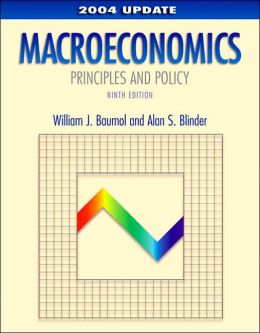 Macroeconomics: Principles and Policy, 2004 Update