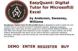 EasyQuant: Digital Tutor for Microsoft Excel