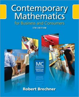 Contemporary Mathematics for Business and Consumers (Book Only)
